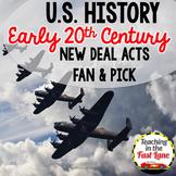20th Century: New Deal Fan & Pick {US History}