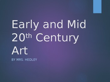 20th Century PowerPoint Lecture (APAH)