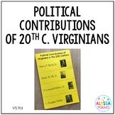 20th Century Virginians' Political Contributions Foldable Booklet (VS.9d)
