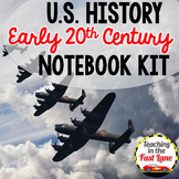 20th Century:WWI, Roaring 20s, Great Depression, WWII Notebook Kit {US History}