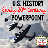 20th Century:WWI, Roaring 20s Great Depression, WWII PowerPoint {US History}