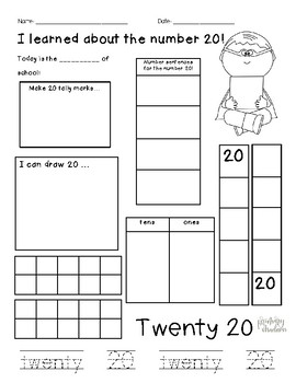 10th and 20th Day of School Number Sense