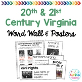 20th and 21st Century Virginia Word Wall/Poster Set (VS.9)