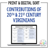 20th and 21st Century Virginians Sorting Cards (VS.9)