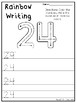 21-50 Rainbow Write the Numbers Printable Worksheets. Preschool-KDG Numbers.