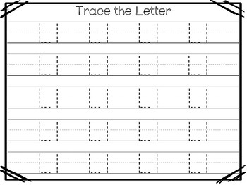21 All About The Letter Ll No Prep Tracing Phonics Worksheets And Activities