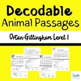 22 Orton-Gillingham Based Decodable Animal Passages