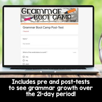 21 Day Grammar Boot Camp- Mastering Language Standards for Grades 3-4