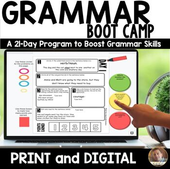 Reading Comprehension Passages and Questions & 21 Day Grammar Boot Camp