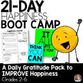 21-Day Happiness Boot Camp- Gratitude Journal Pack for Grades 2-6