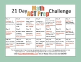 21 Day Math ACT Prep Challenge - Distance Learning