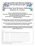 21 Day Student Vs. Teacher Practice Challenge - Editable!