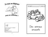 21) Des animaux amusants -avec - livret de lecture ENFANT