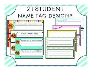 21 Student Name Tag Designs (Desk Tags)