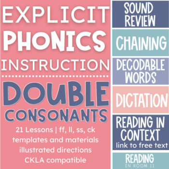 21 Double Consonant Phonics Lessons with Templates, Printables and Google Slides