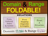 21) Domain & Range Foldable