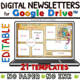 Distance learning 21 EDITABLE classroom NEWSLETTERS GOOGLE DRIVE™