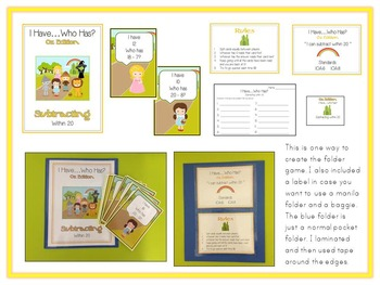21 ELA First Grade Folder Games - Common Core Pack #2 -  Word Work Centers!