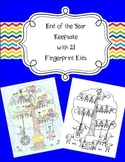 21 Fingerprint Kids End of the Year and Autograph Memory Page