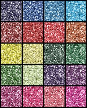 21 Glitter Hearts {Clipart}