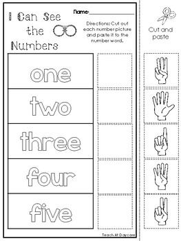 21 I Can See the Numbers Subitizing Printable Worksheets. PreK-2nd Grade.