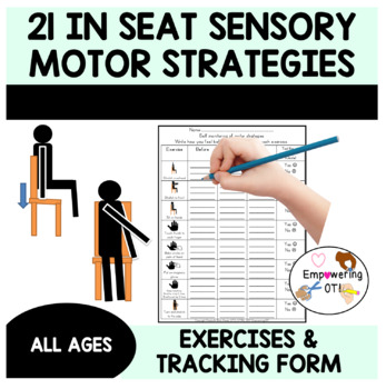 21 IN SEAT sensory motor yoga, flexible seating visuals - activity&data tracking