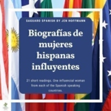 21 Influential Hispanic Women Readings with Questions in Spanish (Biografías)