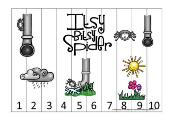 21 Itsy Bitsy Spider themed preschool games and worksheets bundle.