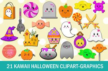 21 Kawaii Halloween Clipart-Halloween Kawaii Graphics Clipart