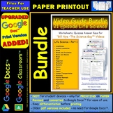 A Differentiated Worksheet Bundle Quiz Ans for Bill Nye Life Science Part 1 *