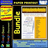 Differentiated Worksheet Bundle Quiz Ans for Bill Nye Life Science Part 2 *