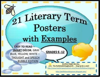 21 Literary Term Posters with Examples (Grades 6-12) and Ideas for Use