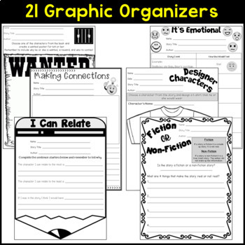 Reading Response Graphic Organizers For ANY Picture Books