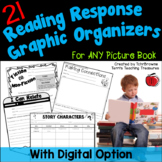 Reading Response Graphic Organizers with Digital Option