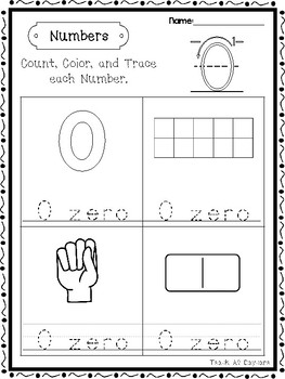 21 Numbers 0-20 Count, Color, Trace Worksheets. Preschool-Kindergarten Math