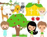 23 PNG Files- Adam and Eve Clip Art- Digital Clip Art