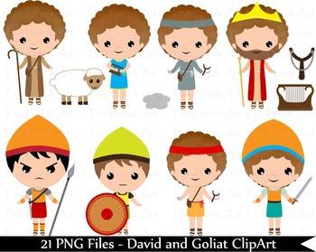 21 PNG Files- David and Goliat ClipArt - Digital Clip Art  132