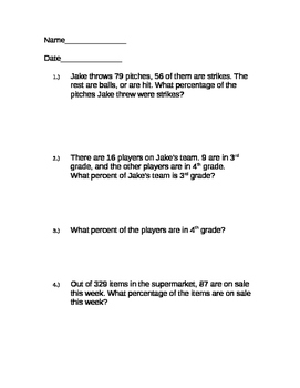 21 Percentages Word Problems