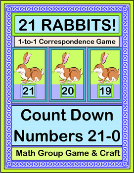 """""""21 Rabbits"""" - Count Down 21 - 0 With An Active Math Game and Craft"""