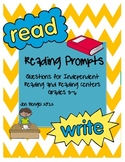 21 Reading Prompt Printable Cards for Fiction/Nonfiction w