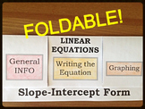 21) Slope Intercept Form Foldable