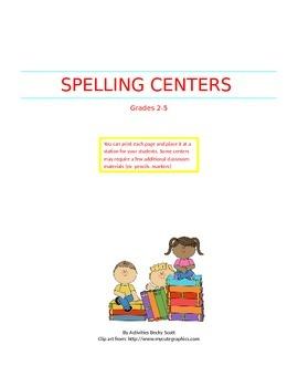 21 Spelling Centers