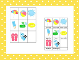 21 Summer Season themed preschool games and worksheets bundle.