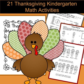 21 Thanksgiving Math Activities for Kindergarten