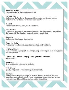 21 Time Filler Activities