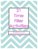 21 Time Filler Activities