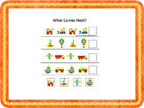 21 Transportation themed preschool games and worksheets bundle.