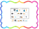 21 Wild About Weather themed preschool games and worksheets bundle.