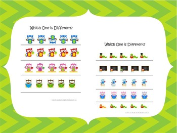 21 Wise Owl themed preschool games and worksheets bundle.