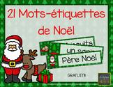 21 mots-étiquettes de Noël [Gratuit!] [FRENCH] [CHRISTMAS]